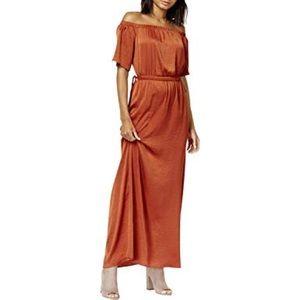 Bar III cold shoulder maxi dress size medium
